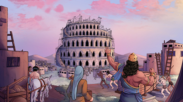 iBIBLE image of the Tower of Babel