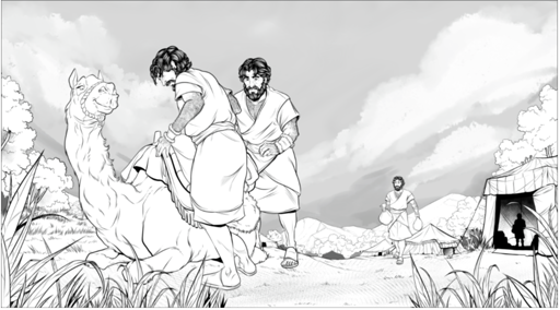 iBIBLE line art sample two of the life of Jacob