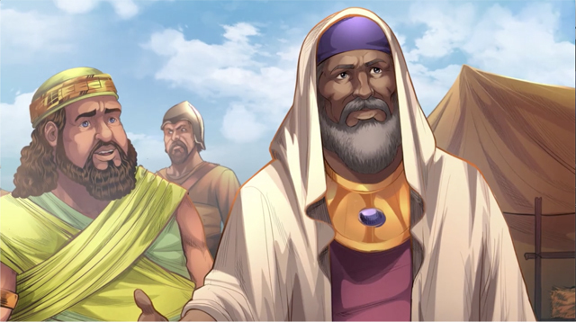 iBIBLE image of the two kings: The King of Sodom and the King of Salem