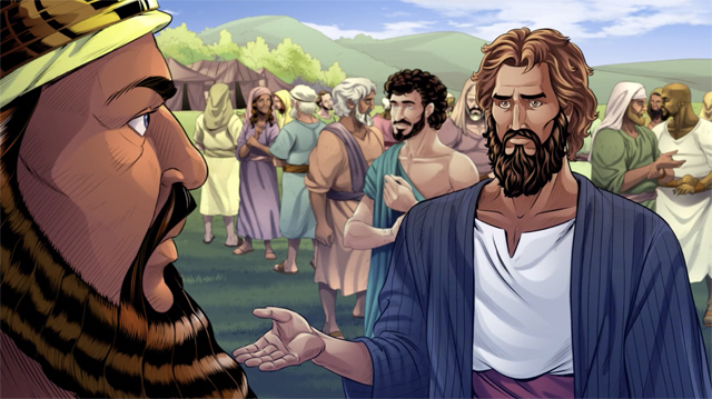 iBIBLE image of Abram turning down the King's offer