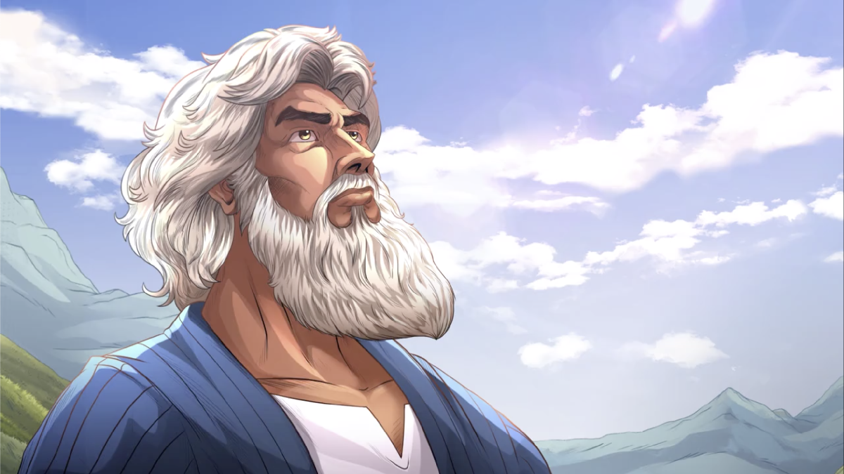 iBIBLE image of Abraham looking to the sky as he receives direction from God