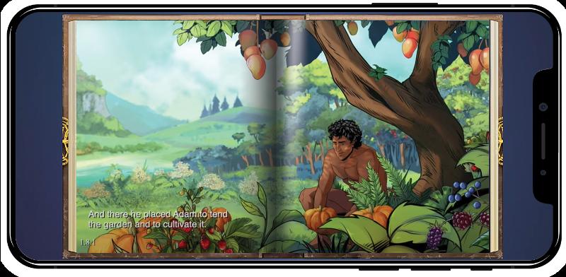 Adam in the garden of Eden