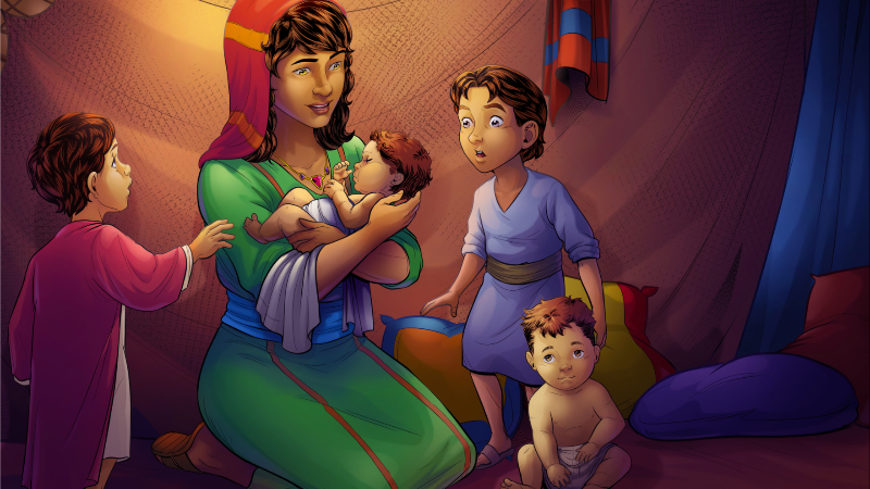 God blessed Leah with four sons