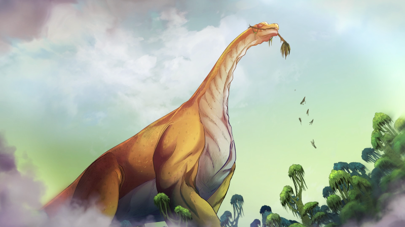 iBIBLE illustration for chapter 7 of the front of a behemoth