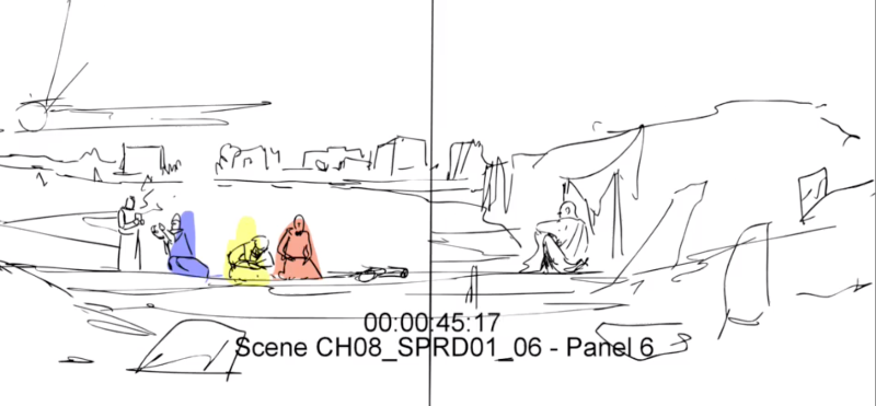 Job and his friends in a new setting (preliminary sketch)