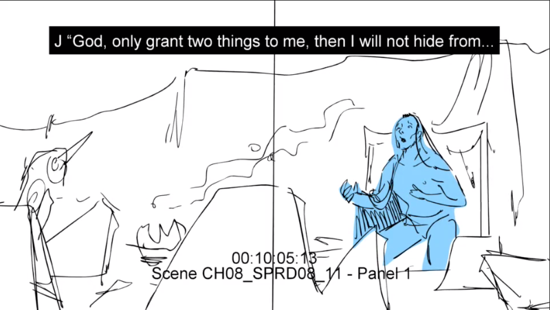 Job cries out to the Lord (preliminary sketch)