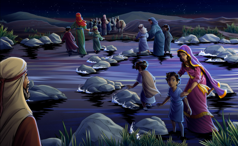 Jacob sends family across the Ford
