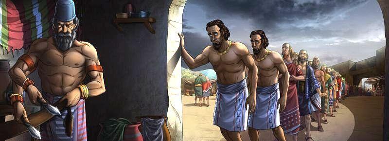 The men of Shechem are circumcised