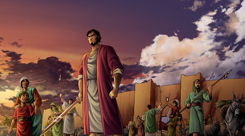 The sons of Jacob plunder Shechem
