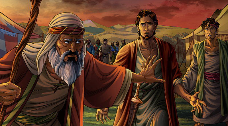 Jacob rebukes Simeon and Levi