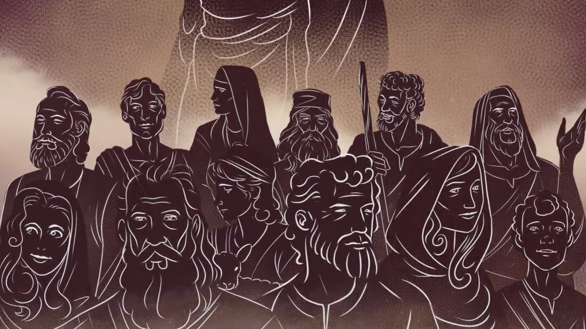 iBIBLE illustration for the animation style used for when Abraham interacts with God through visions