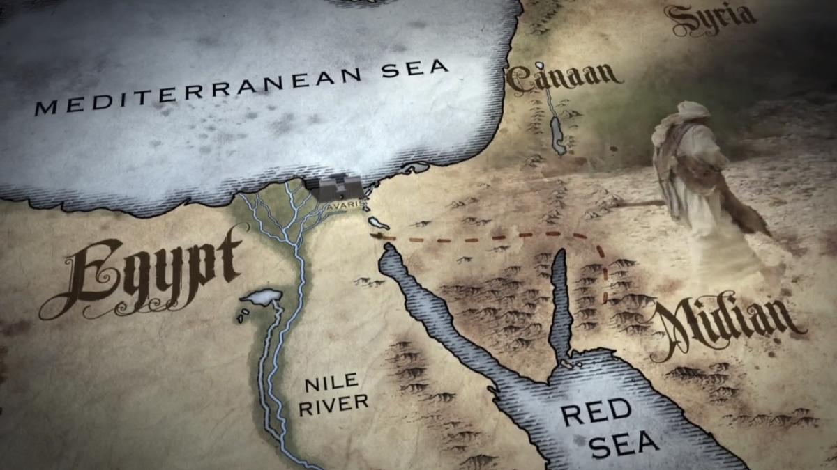 Possible map of the region around Egypt