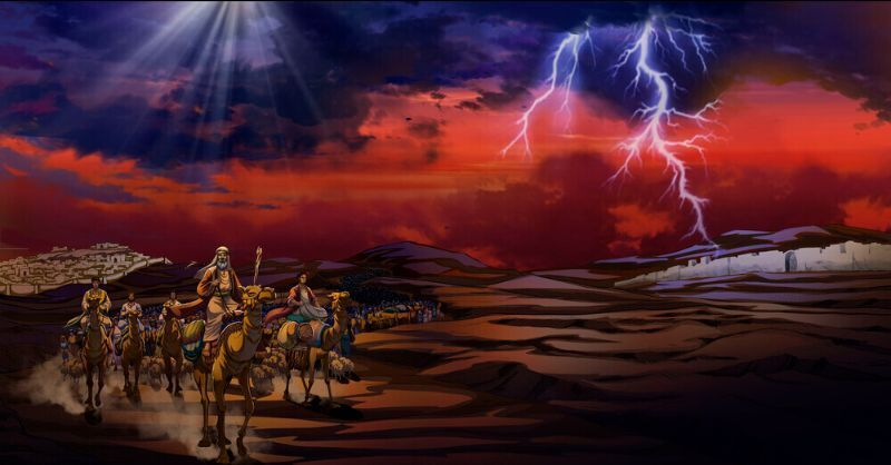 Scene from iBIBLE Chapter 22