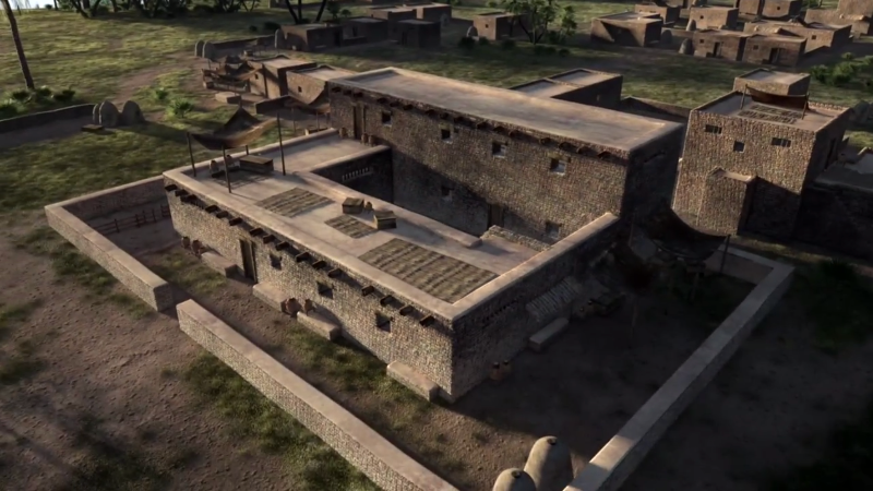 reconstruction of Joseph's estate based on archaeological findings of the city of Avaris