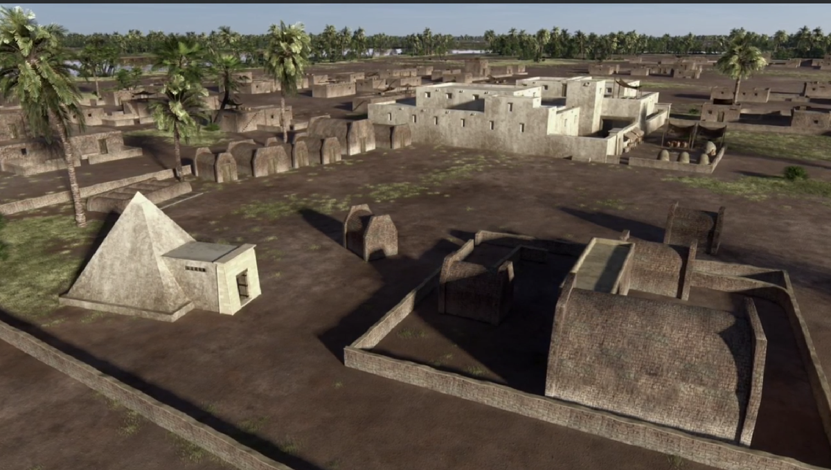 Another reconstruction of Joseph's estate based on archaeological findings of the city of Avaris
