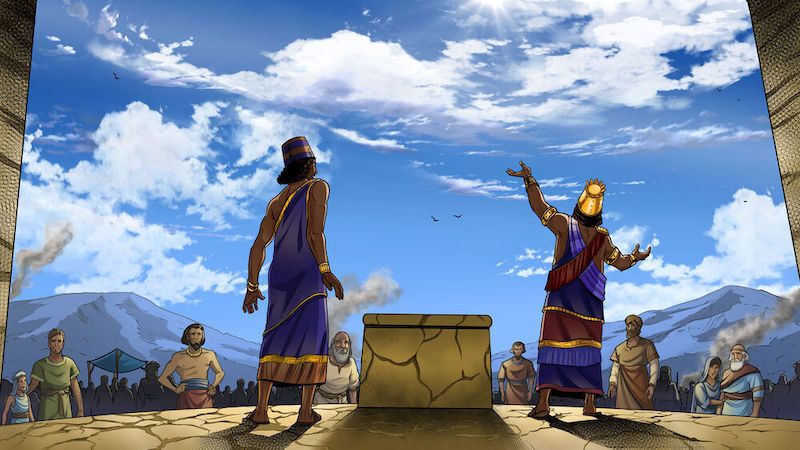 Animation from iBIBLE Chapter 17. Hamor talks to the men of Shechem