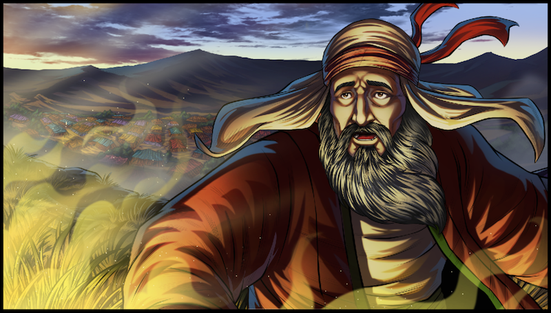 image from iBIBLE Chapter 17. Jacob sees God