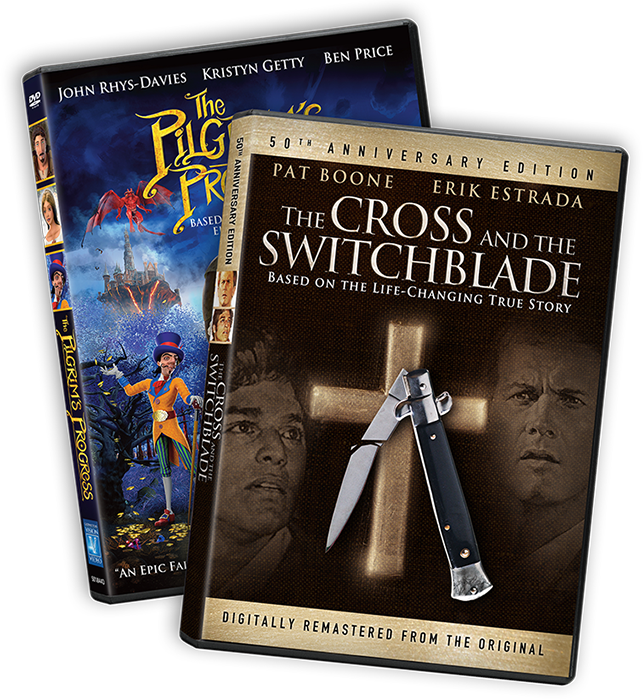 The Cross and the Switchblade and The Pilgrim's Progress DVDs